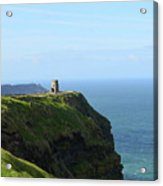 Scenic O'brien's Tower A Top The Cliff's Of Moher In Ireland Acrylic Print