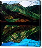 Scenic Stained Glass  Acrylic Print