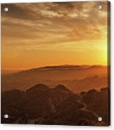 Scenic Sunset Over Hollywood Hills Acrylic Print