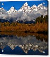 Scenic Teton Fall Reflections Acrylic Print