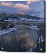 Scenic Twilight View Of The Yellowstone Acrylic Print