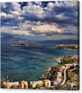 Scenic View Of Eastern Crete Acrylic Print