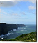 Scenic Views Of Ireland's Cliff's Of Moher In County Clare Acrylic Print