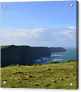 Scenic Views Of The Cliff's Of Moher In Ireland Acrylic Print