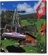 Schilthorn Cable Car Murren Acrylic Print