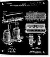 Schmidts Of Philadelphia Cold Beer Tap In Black Acrylic Print