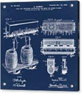 Schmidts Of Philadelphia Cold Beer Tap In Blue Acrylic Print