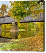 Schofield Bridge Over The Neshaminy Acrylic Print