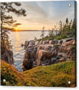 Schoodic Point Sunset Acrylic Print