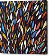 School Of Anchovies Abstract 2 Acrylic Print