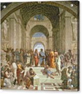 School Of Athens From The Stanza Della Segnatura Acrylic Print by Raphael