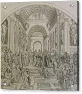 School Of Athens/ Homage To Raphael Acrylic Print