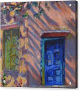 School Room Door Varanasi India Acrylic Print