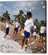 School Trip To Beach IIi Acrylic Print