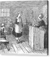 Schoolhouse, 1877 Acrylic Print by Granger