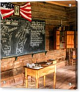 Schoolhouse Classroom At Old World Wisconsin Acrylic Print