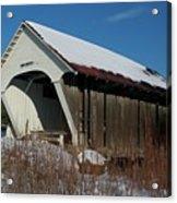 Schoolhouse Covered Bridge Acrylic Print