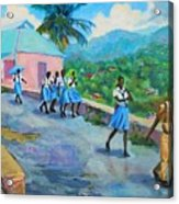 School's Out In Jamaica Acrylic Print