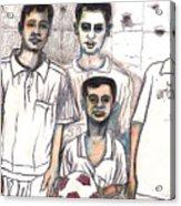 Schoolyard Chums Acrylic Print by Al Goldfarb