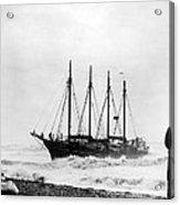 Schooner Shipwreck Acrylic Print