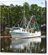 Schrimp Boat On Icw Acrylic Print