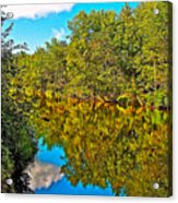 Schroon River Reflection In The Adirondacks-new York Acrylic Print