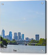 Schuylkill River Panorama - Philadelphia Acrylic Print