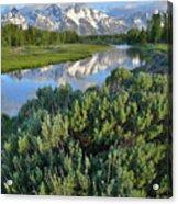 Schwabacher Landing In Grand Teton Acrylic Print