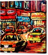 Schwartz's Deli At Night Acrylic Print
