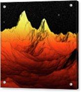 Sci Fi Mountains Landscape Acrylic Print