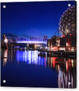 Science World And Fireworks Acrylic Print