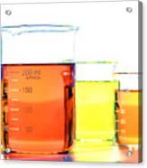 Scientific Beakers In Science Research Lab Acrylic Print