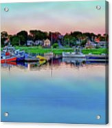 Scituate Harbor At Sunset Acrylic Print