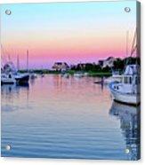 Scituate Harbor Sunset Acrylic Print