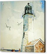 Scituate Light Acrylic Print by P Anthony Visco