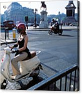 Scooter Girl Acrylic Print
