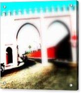 Scootering Through A Medina Gate  Acrylic Print