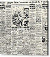 Scopes Trial, 1925 Acrylic Print