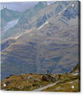 Scoping The Alps Acrylic Print
