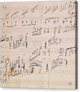Score Sheet Of Moonlight Sonata Acrylic Print