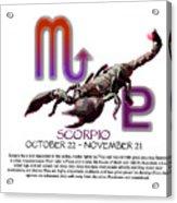 Scorpio Sun Sign Acrylic Print