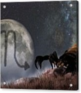 Scorpio Zodiac Symbol Acrylic Print