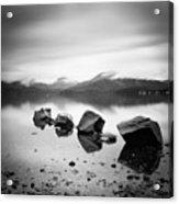 Scotland Lomond Rocks Acrylic Print by Nina Papiorek
