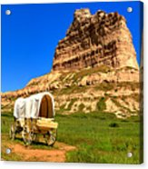 Scots Bluff Wagon Train Panorama Acrylic Print