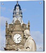 Scott Statue And Balmoral Clock Tower Acrylic Print
