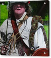 Scottish Soldier Of The Sealed Knot At The Ruthin Seige Re-enactment Acrylic Print