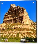 Scotts Bluff National Monument Panorama Acrylic Print