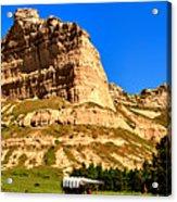 Scotts Bluff National Panoramic Landscape Acrylic Print