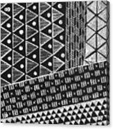 Scratchboard Kapa Pattern 1 Acrylic Print