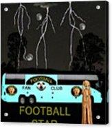 Scream Football Star Acrylic Print by Eric Kempson
